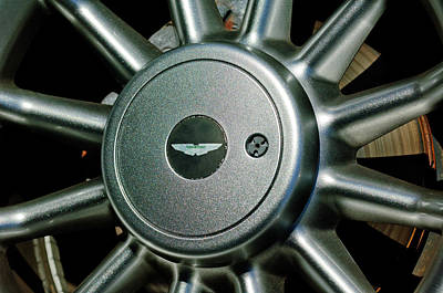 Photograph - Aston Martin Db7 Wheel Emblem by Jill Reger