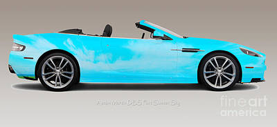 Photograph - Aston Martin Dbs Fort Sumter Skies by Art Faul