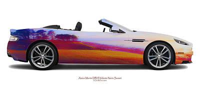 Aston Martin Dbs Volante Nairn Sunset Art Print by Jan W Faul