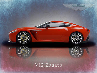 Aston Martin Photograph - Aston Martin V12 Zagato by Mark Rogan