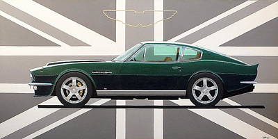 Painting - Aston Martin V8 Vantage by Guy Pettingell