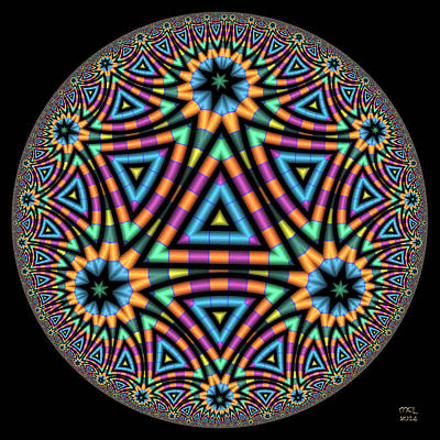 Digital Art - Astonishment - Hyperbolic Disk by Manny Lorenzo