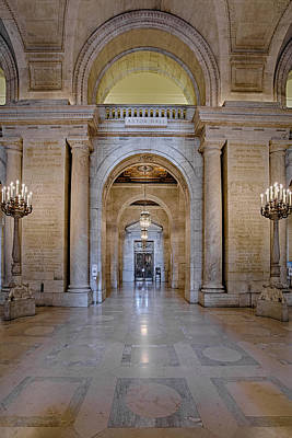 Astor Hall New York Public Library Print by Susan Candelario