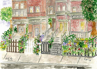 Astor Row In Harlem Art Print by AFineLyne