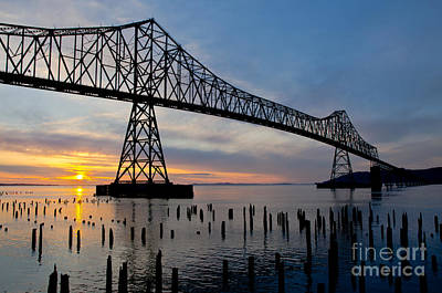 Astoria Bridge Sunset Art Print