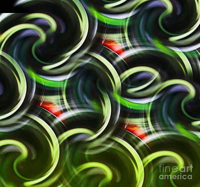 Digital Art - Astract -  Loop D Loop - Luther Fine Art by Luther Fine Art