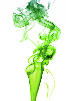 Morphing Photograph - Astract Smoke Swirl In Green by Assalve