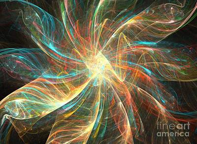 Kim Digital Art - Astral Flower by Kim Sy Ok