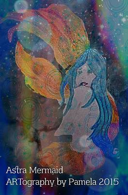 Astral Mermaid Art Print