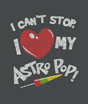 Candy Digital Art - Astro Pop - I Heart by Brand A