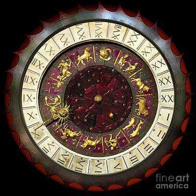Digital Art - Astrological Or Zodiac Mandala by Liane Wright