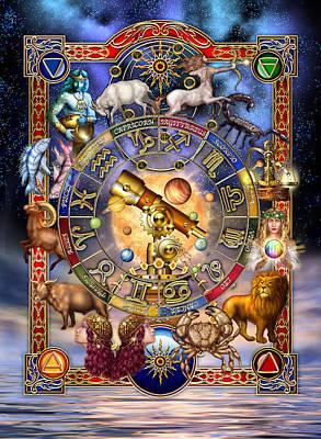 Constellations Digital Art - Astrology by Ciro Marchetti