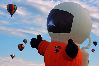 Photograph - Astronaut Balloon by Daniel Woodrum