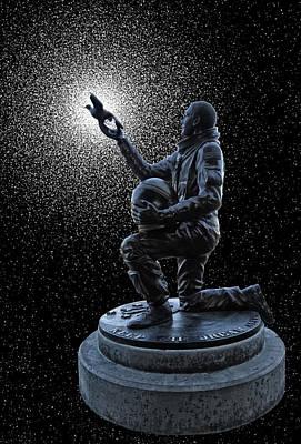 Astronaut Michael P. Anderson Tribute Art Print
