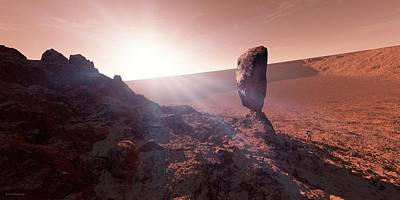 Outer Space Photograph - Astronaut On Mars by Detlev Van Ravenswaay