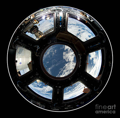 Photograph - Astronauts View From The Space Station by Rose Santuci-Sofranko