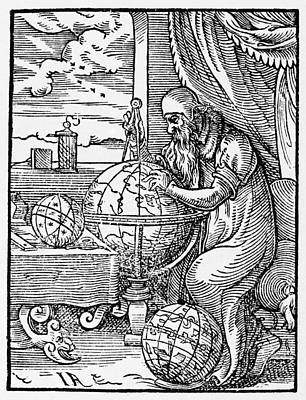 Astronomers Painting - Astronomer, 1568 by Granger