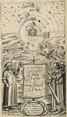 Astronomer Photograph - Astronomer And Solar System by British Library
