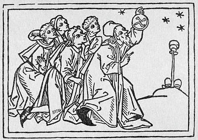 Astronomers Painting - Astronomers, 1476 by Granger