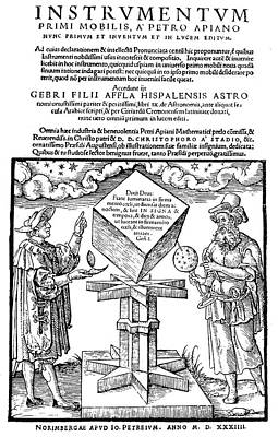 Cosmology Painting - Astronomers, 1533 by Granger