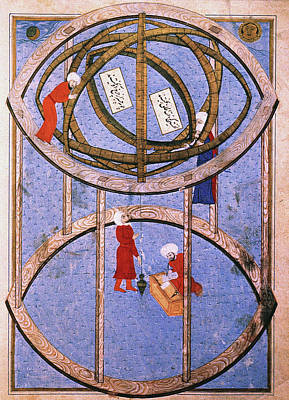 Sphere Painting - Astronomers Within A Giant Armillary by Granger