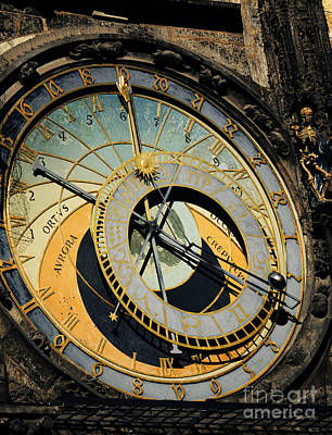 Astronomical Clock In Prague Art Print