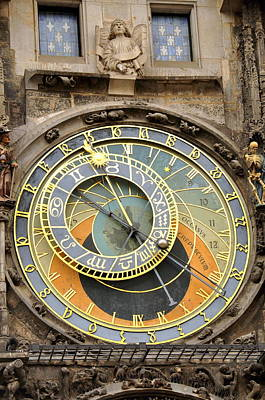 Photograph - Astronomical Clock Prague by Caroline Stella