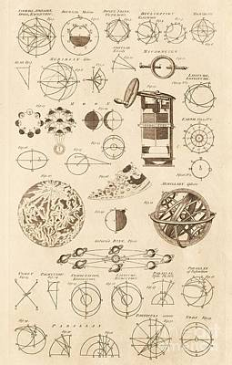 Astronomy Diagrams And Instruments Art Print