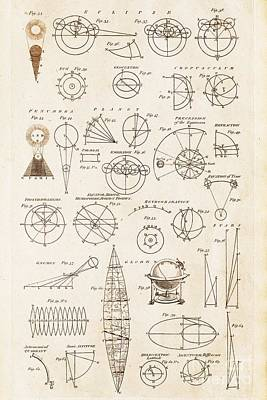 Eliptical Photograph - Astronomy Diagrams by David Parker