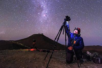 Astrophotographer In The Desert Art Print by Babak Tafreshi