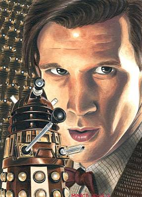 11th Doctor Drawing - Asylum by Marc D Lewis