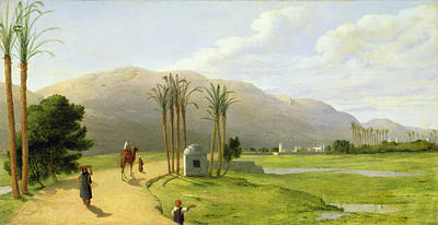 Camel Photograph - Asyut On The Nile, 1873 Oil On Canvas by John Rogers Herbert