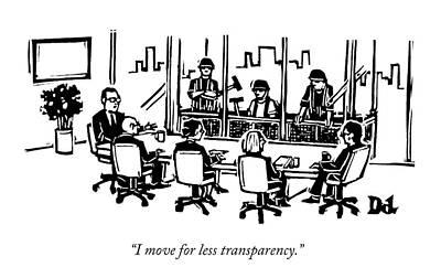 At A Corporate Board Meeting Art Print