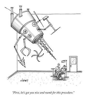 At A Dentist's Office Art Print