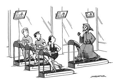 At A Gym, Death Runs On A Treadmill Behind Three Original