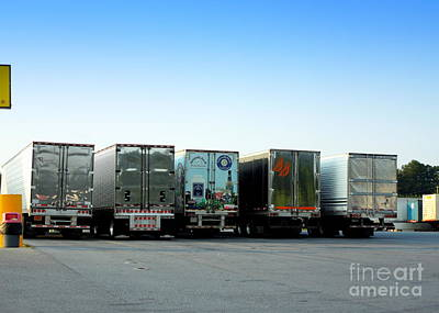 Photograph - At A Truck Stop by Renee Trenholm