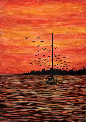 At Anchor Art Print