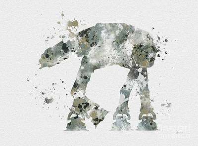 At - At Art Print by Rebecca Jenkins