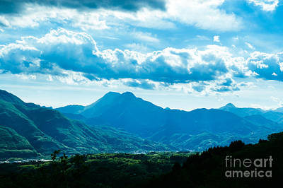 At Barga Looking Towards The Apuane Alps From The Duomo Tuscany Art Print