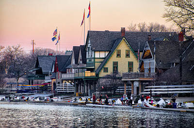 At Boathouse Row - Philadelphia Art Print