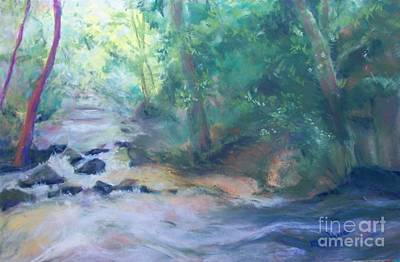 Art Print featuring the painting At Bob's Creek by Mary Lynne Powers
