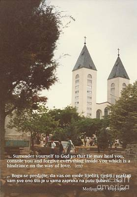 Photograph - At Church  6-1988 Quote by Christina Verdgeline