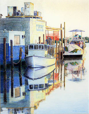 Painting - At Cortez Docks by Roger Rockefeller