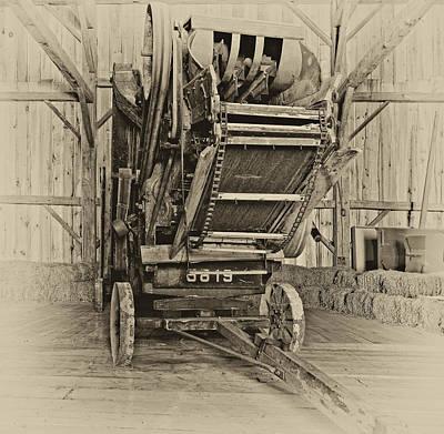 Antique Photograph - At Days End Monochrome by Steve Harrington