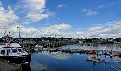 Photograph - At Dock In St. Andrews New Brunswick by Georgia Hamlin