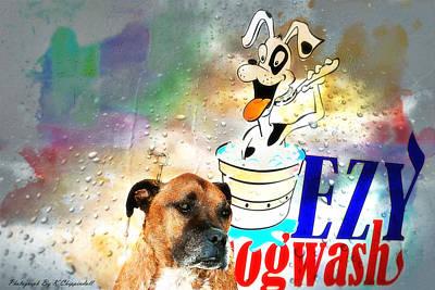 At Dog Wash 01 Original by Kevin Chippindall