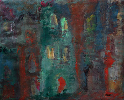 Cityscape Painting - At Dusk II by Oscar Penalber