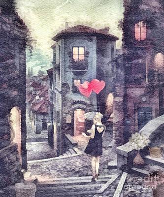 At Heart Art Print by Mo T