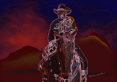 At Home On The Range Art Print by Kae Cheatham