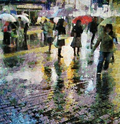 Shopping Bags Digital Art - At Last Spring Rain by Gun Legler